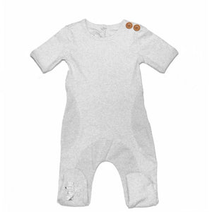 Load image into Gallery viewer, Button Detail Footie Baby Footies Maniere Accessories 3 Months White