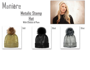 Load image into Gallery viewer, Metalic Stamp Hat Winter Hat Manière