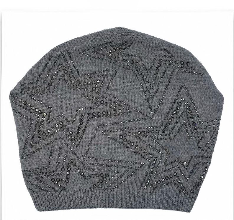 Rhinestone Star Design Hat Winter Hat Manière