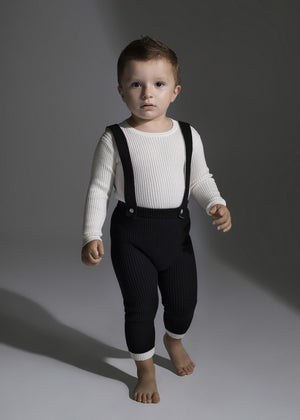 Load image into Gallery viewer, NooVèl, Boys Knit Overalls