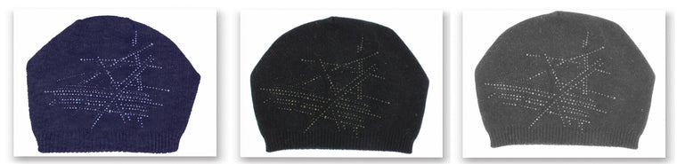 Slouch Embellished Beanie with Choice of Pom