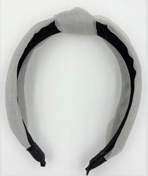 Load image into Gallery viewer, Tulle Kay Knot Headband Maniere Accessories Silver