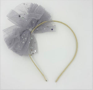 Load image into Gallery viewer, Glitter Bow Headband Headband Maniere Accessories