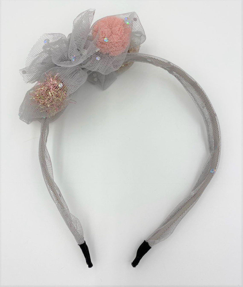 Shiny Pom Headband Headband Maniere Accessories