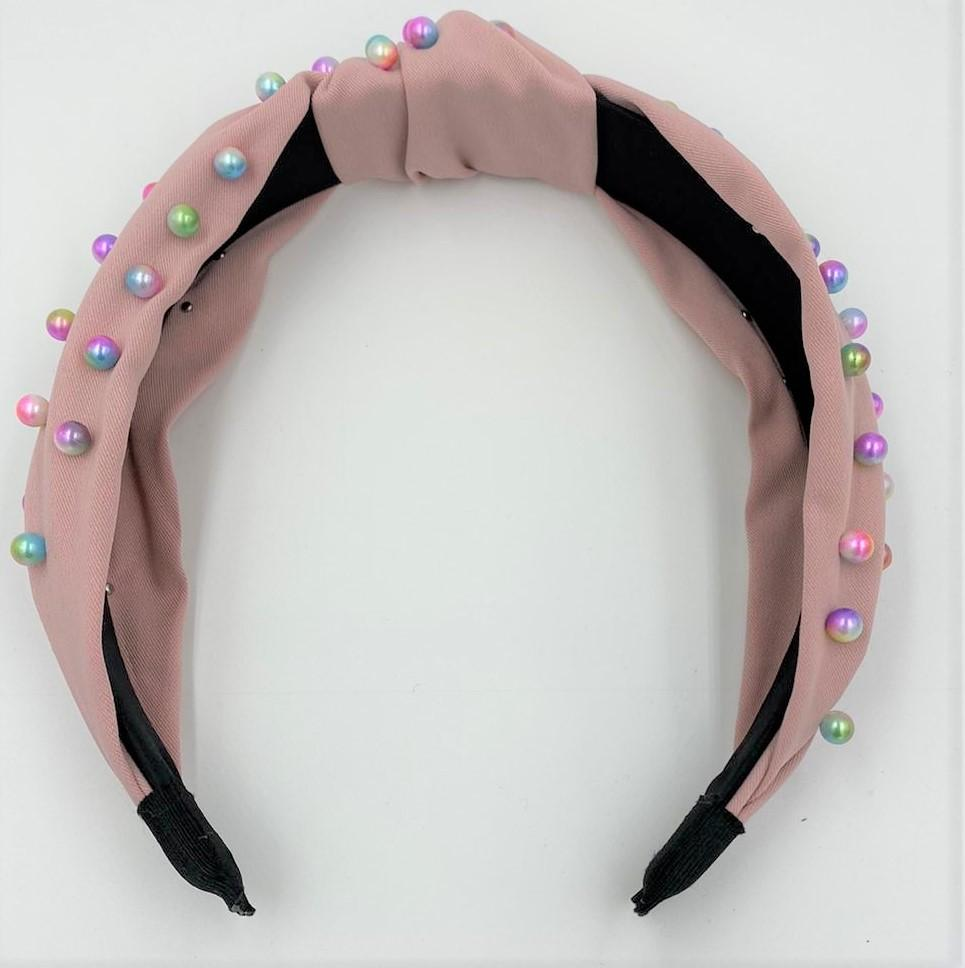 Colorful Pearl Kay Knot Headband Maniere Accessories