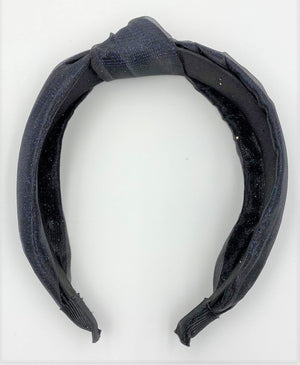 Tulle Kay Knot Headband Maniere Accessories Navy