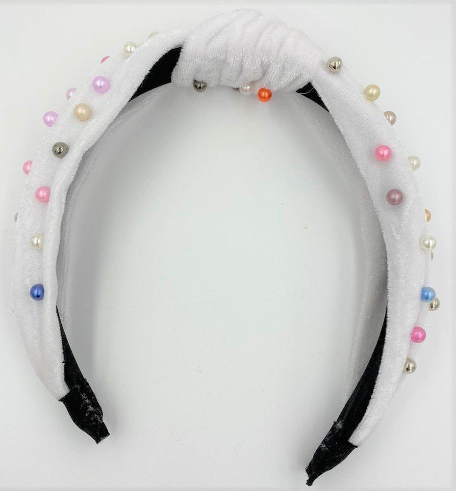 Load image into Gallery viewer, Velvet Studded Headband Maniere Accessories