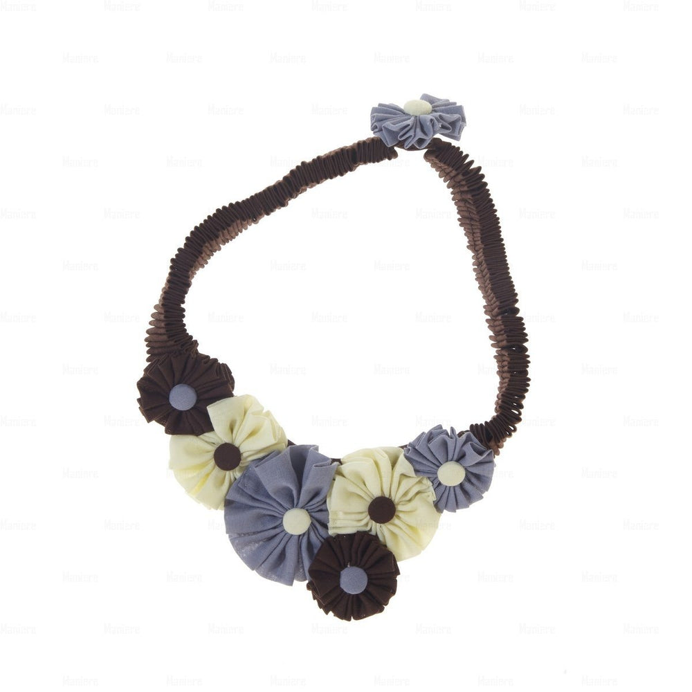 Accordion-Flower-Necklace Necklace Manière Brown COMBO