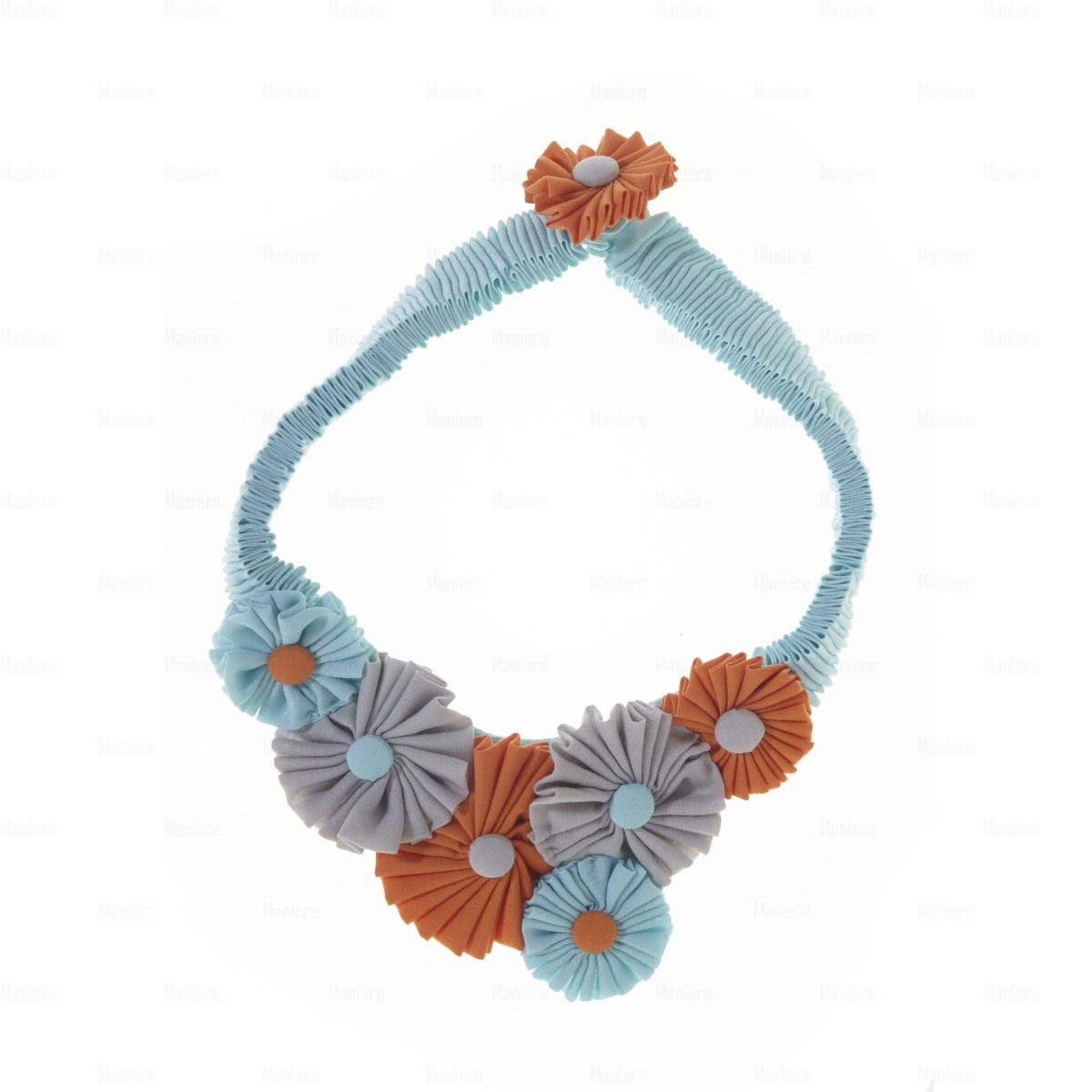 Accordion-Flower-Necklace Necklace Manière Turquise COMBO