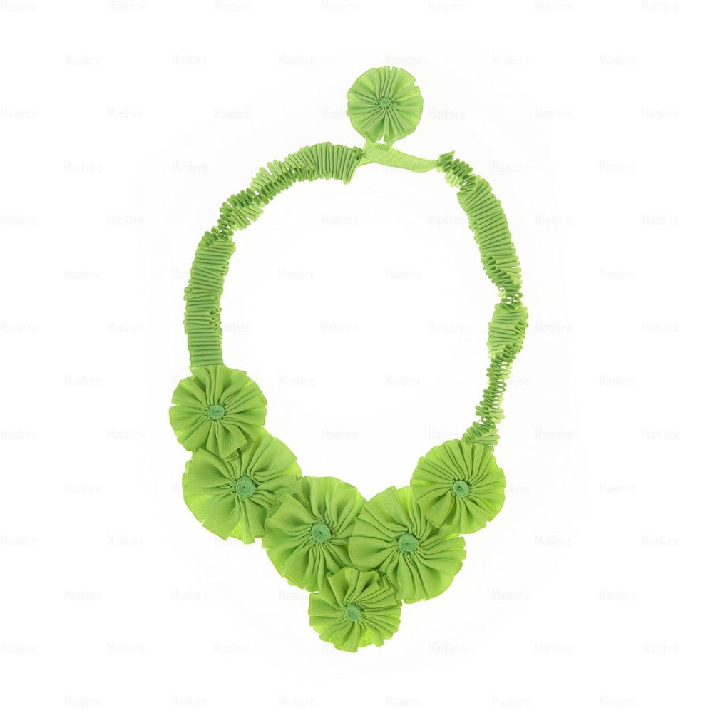 Accordion-Ribbon-Necklace Necklace Manière Lime