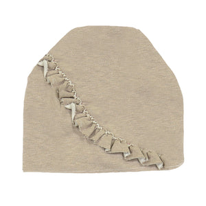 Angled Ruffle Beanie (no pom) Maniere Accessories Mauve XS
