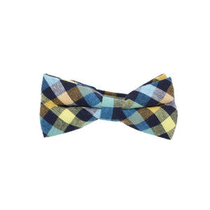 Searsucker Bow Tie Boys Ties Manière Checkered Yellow