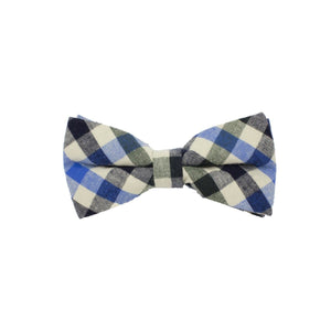 Searsucker Bow Tie Boys Ties Manière Checkered Blue
