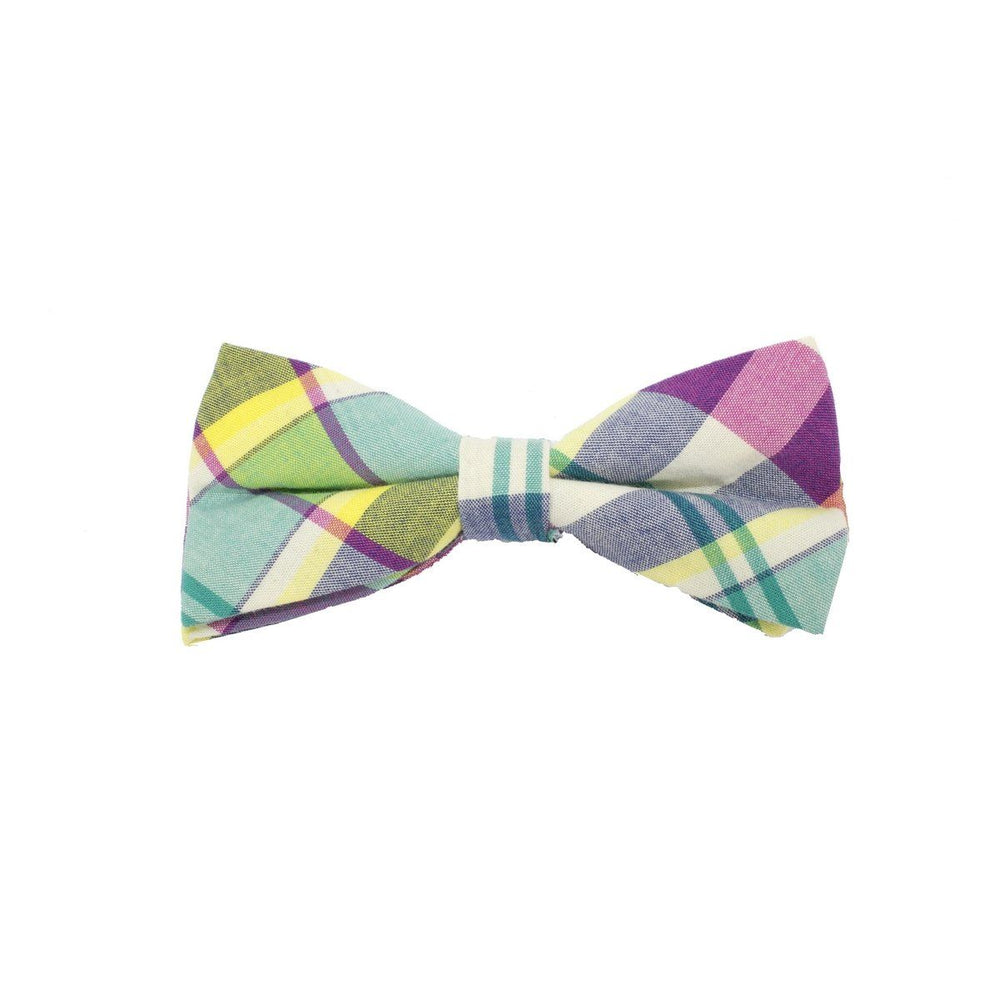 Searsucker Bow Tie Boys Ties Manière Yellow Plaid