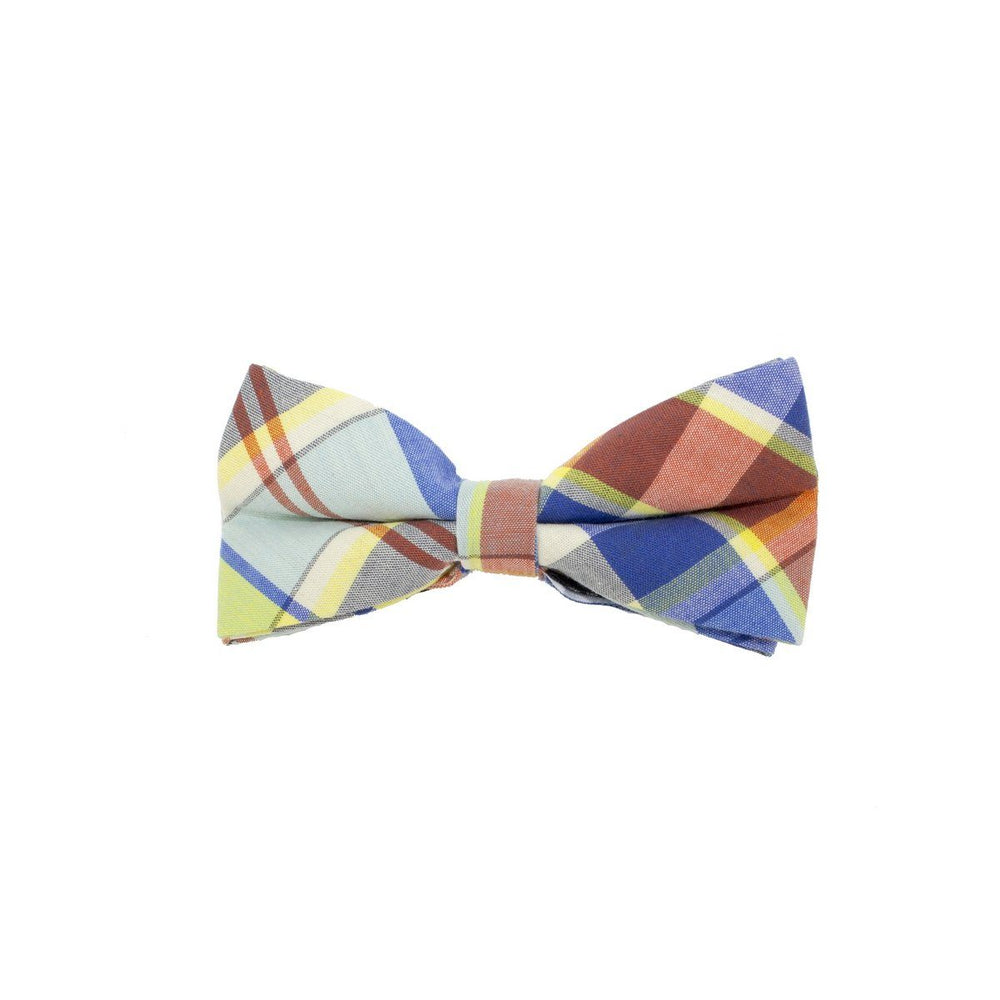Searsucker Bow Tie Boys Ties Manière Blue Plaid