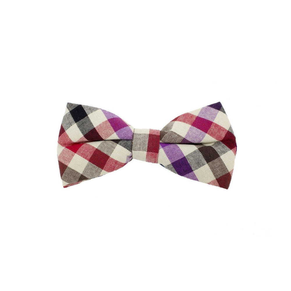 Searsucker Bow Tie Boys Ties Manière Checkered Purple