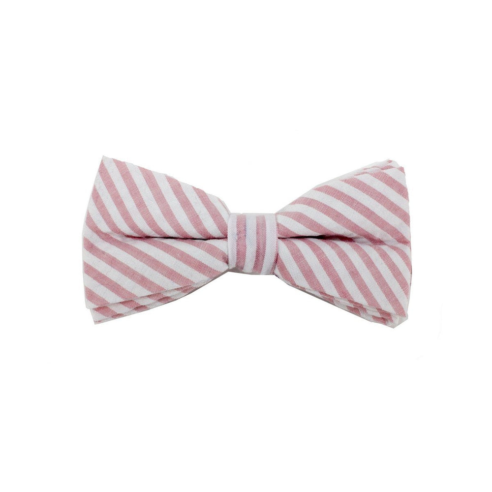 Searsucker Bow Tie Boys Ties Manière Striped Pink