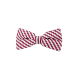 Searsucker Bow Tie Boys Ties Manière Striped Red