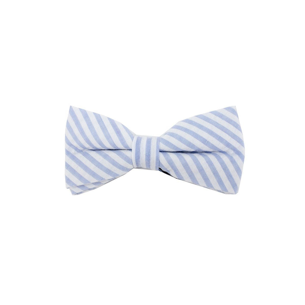 Searsucker Bow Tie Boys Ties Manière Striped Blue