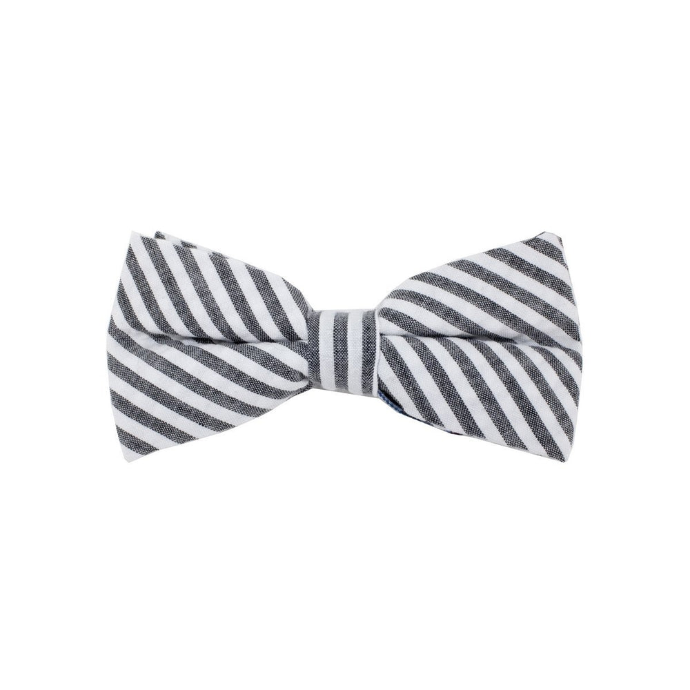 Searsucker Bow Tie Boys Ties Manière Striped Grey