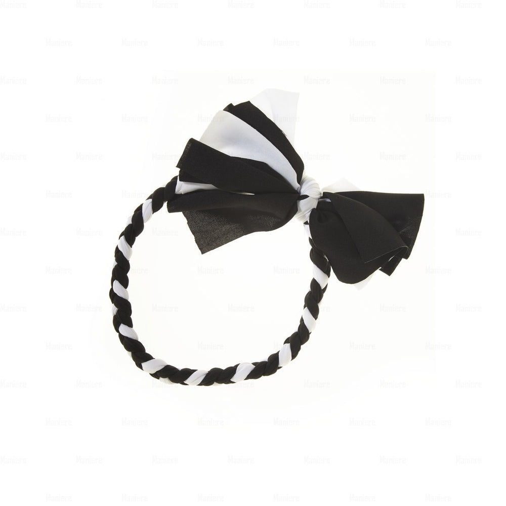 Braided-Bow-Baby-Headwrap Headwrap Manière Black/White