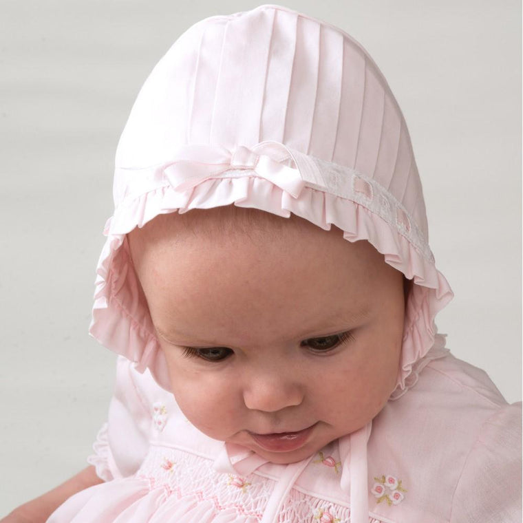 Pleated Baby Bonnet