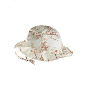 Load image into Gallery viewer, Beach-Hat-Tree-Print Beach Hat Manière Peach