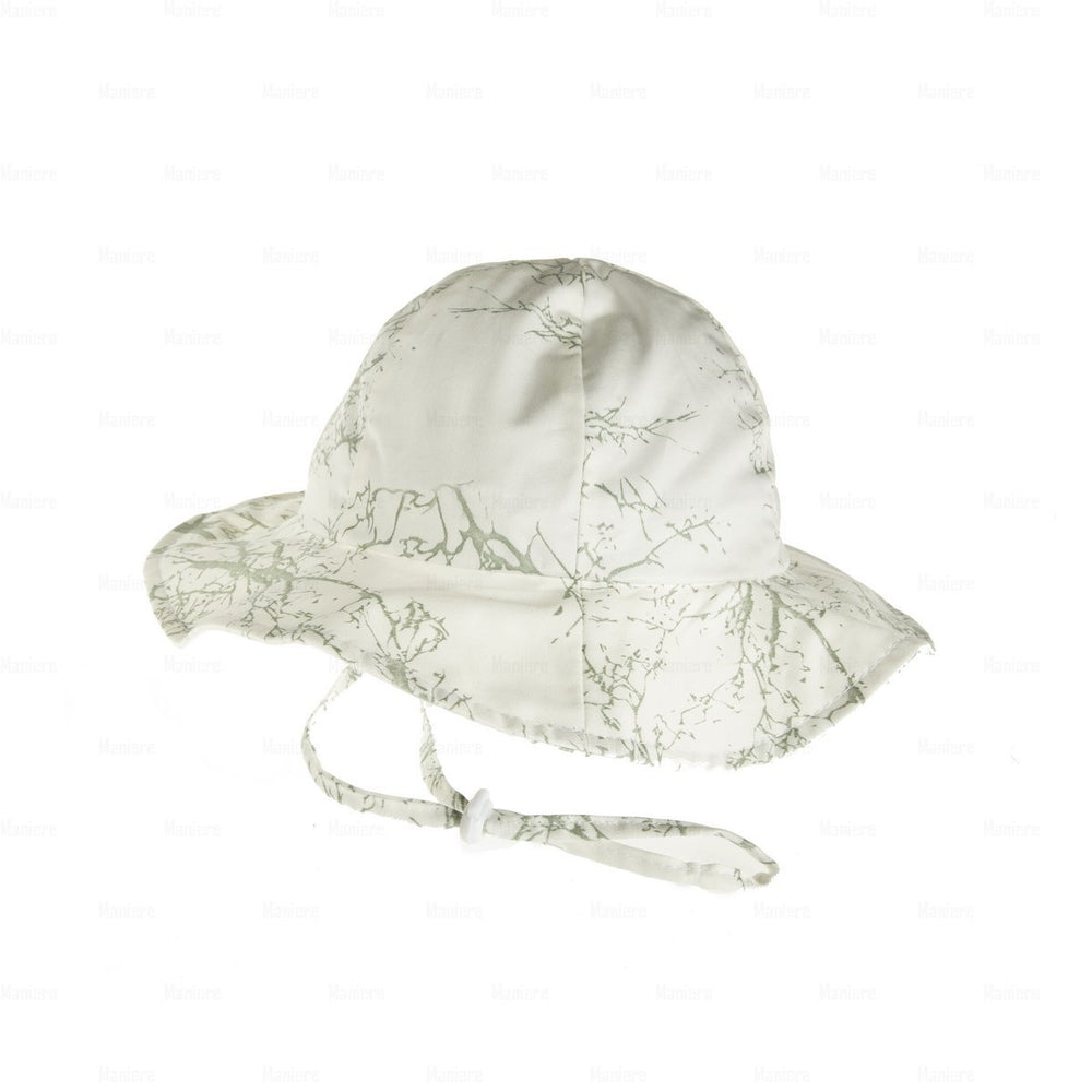 Beach-Hat-Tree-Print Beach Hat Manière Forest Green