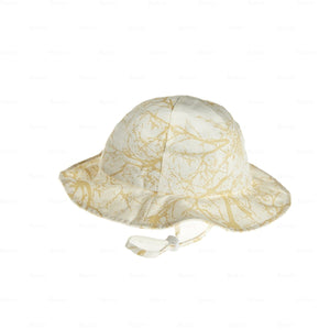 Load image into Gallery viewer, Beach-Hat-Tree-Print Beach Hat Manière Gold