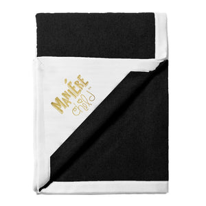 Load image into Gallery viewer, Color Block Blanket Baby Blanket Maniere Accessories Black/White