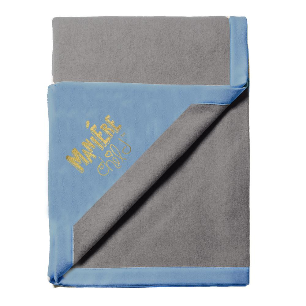 Color Block Blanket Baby Blanket Maniere Accessories Blue/Grey