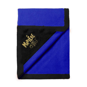 Load image into Gallery viewer, Color Block Blanket Baby Blanket Maniere Accessories Navy/Black