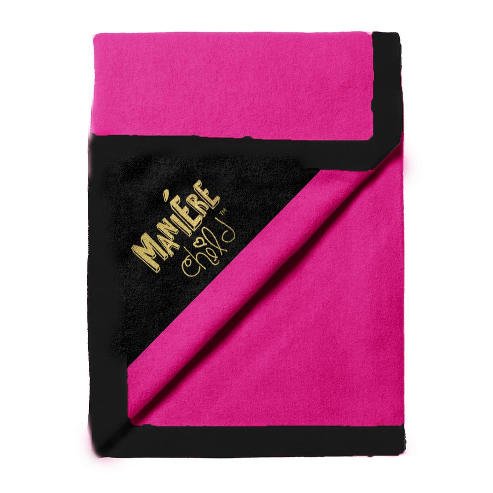 Color Block Blanket Baby Blanket Maniere Accessories Pink/Black