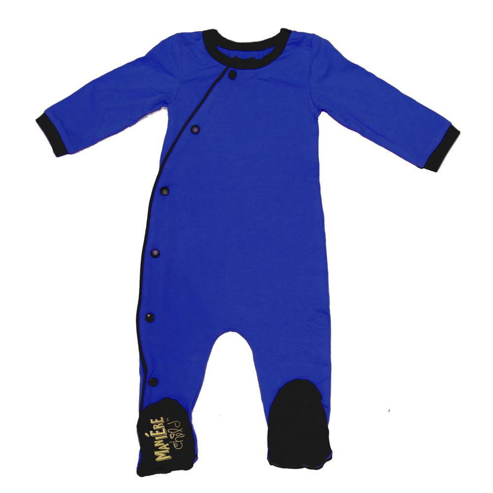Baby Cotton Kimono Baby Footies Maniere Accessories Blue/Black 3M