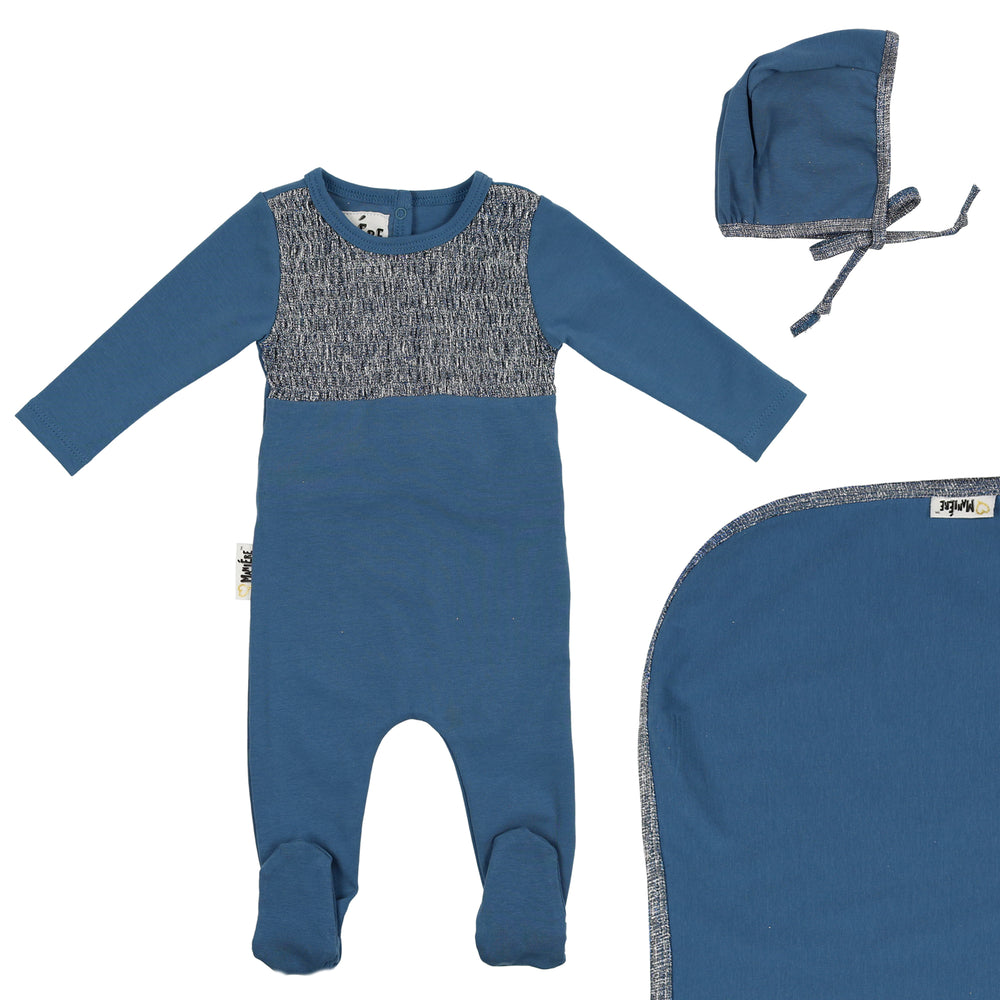 Boys Smocked Footie Set