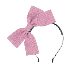 Load image into Gallery viewer, Burlap Bow Headband Headband Maniere Accessories Pink