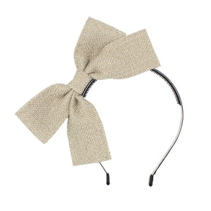 Load image into Gallery viewer, Burlap Bow Headband Headband Maniere Accessories Sand