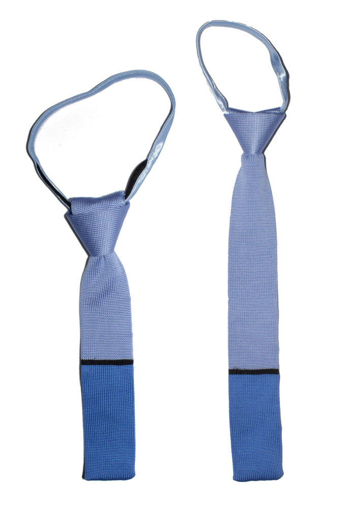 Boys Knitted Neck Tie Boys Ties Manière Blue on Blue Toddler (Ages 2-6)