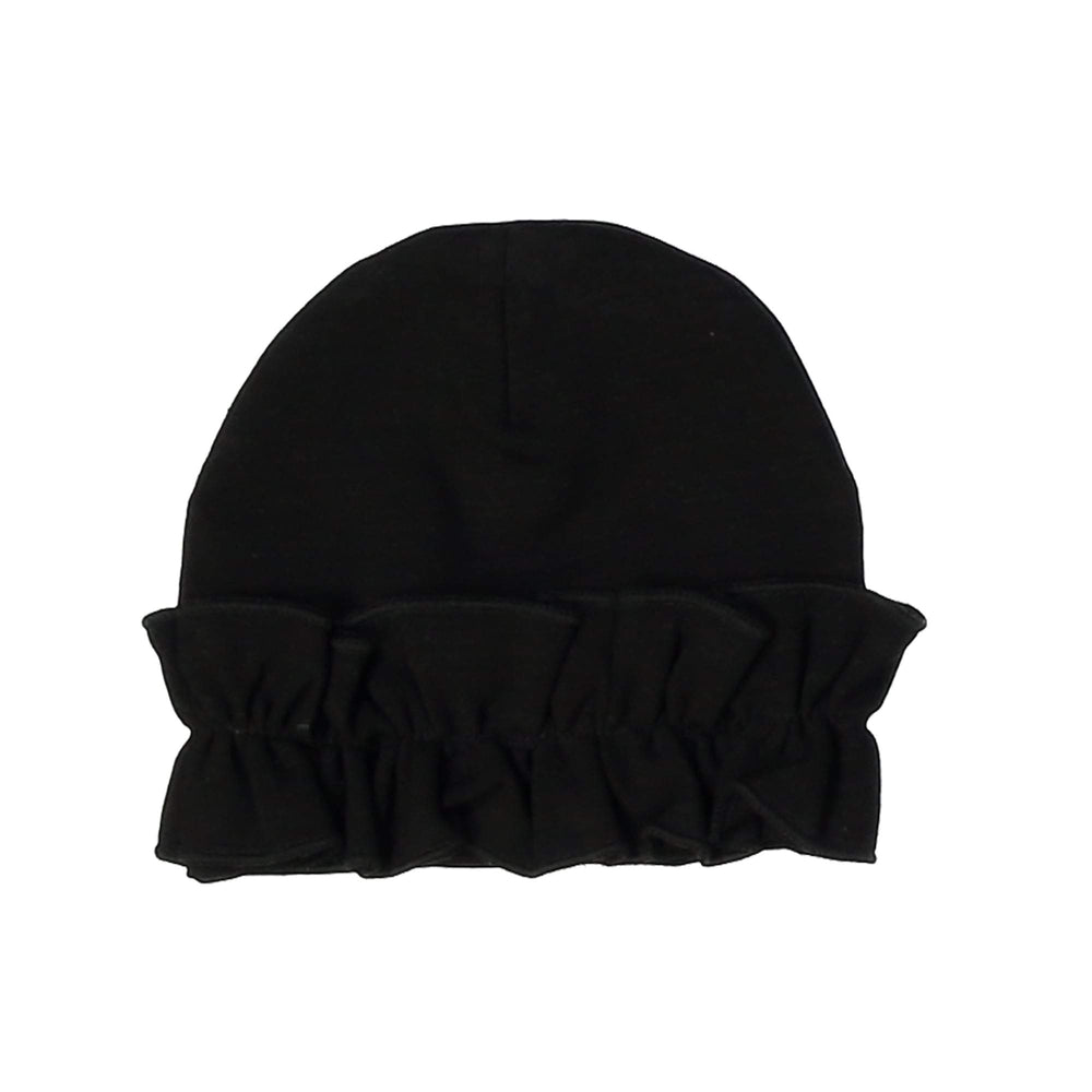 Load image into Gallery viewer, Chest Ruffle Beanie (no pom) Maniere Accessories Black XS