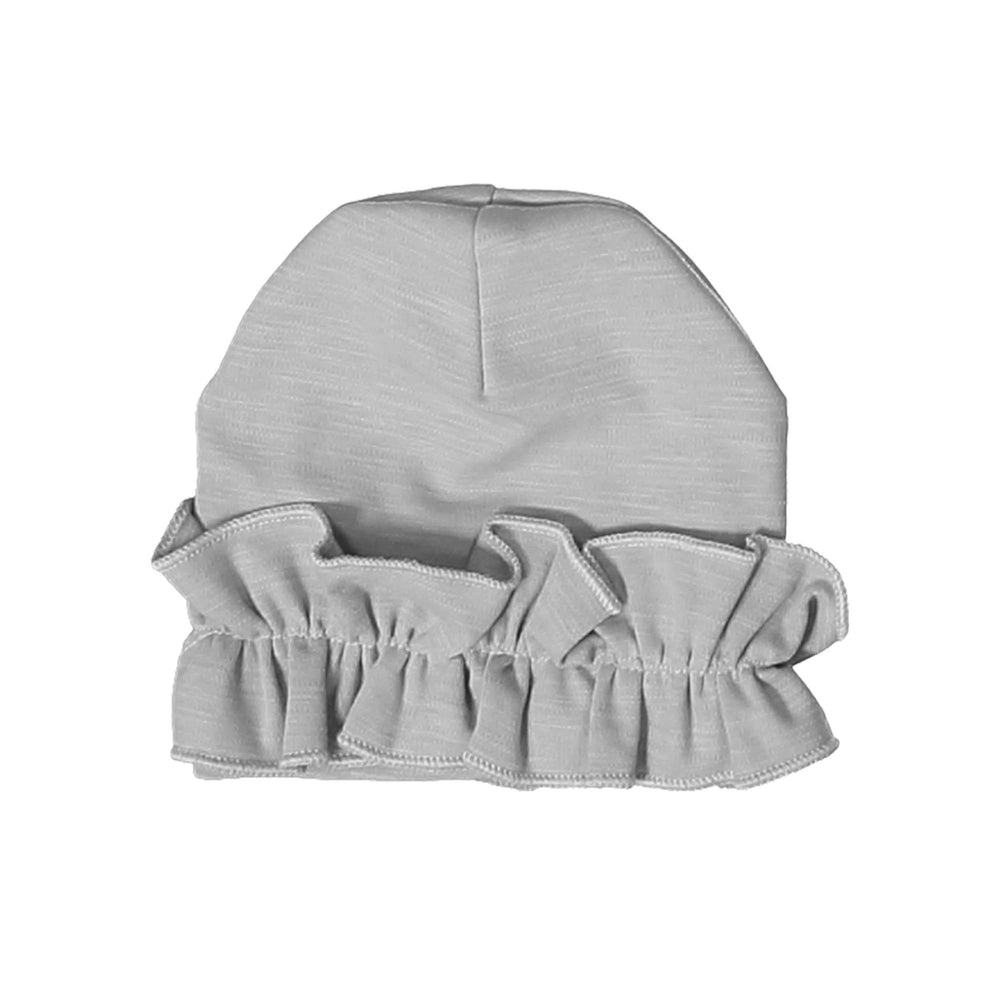 Load image into Gallery viewer, Chest Ruffle Beanie (no pom) Maniere Accessories Grey XS