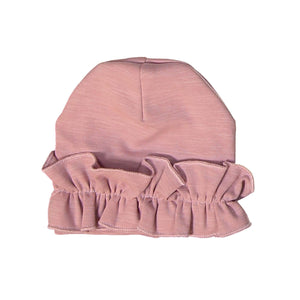 Load image into Gallery viewer, Chest Ruffle Beanie (no pom) Maniere Accessories Mauve XS