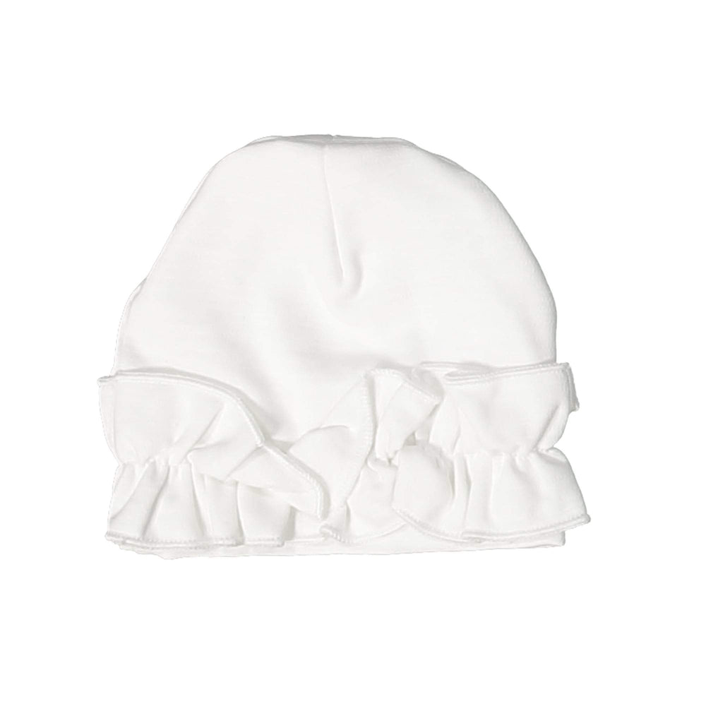 Chest Ruffle Beanie (no pom) Maniere Accessories White XS