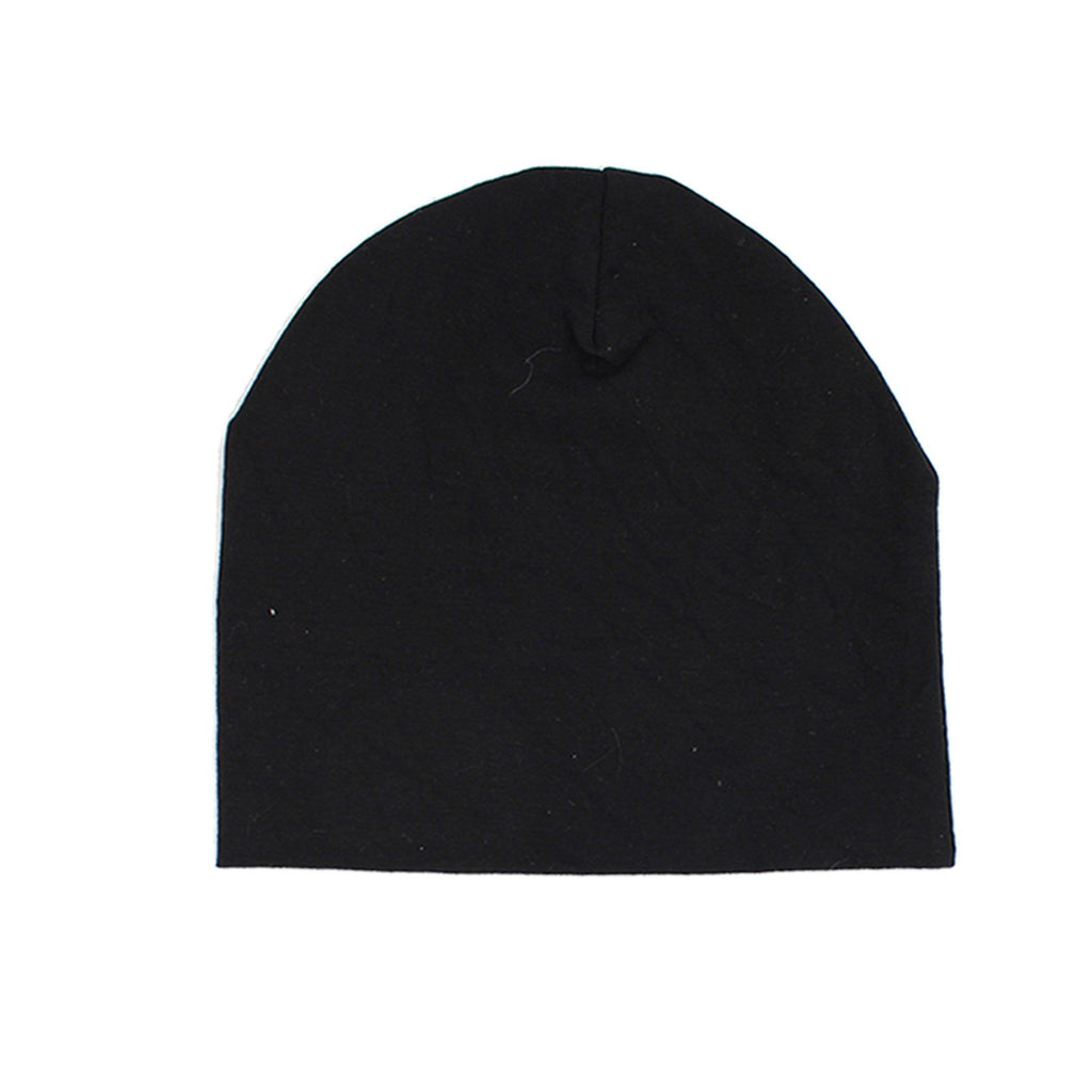 Cotton Henley Beanie Maniere Accessories Black 3 Month