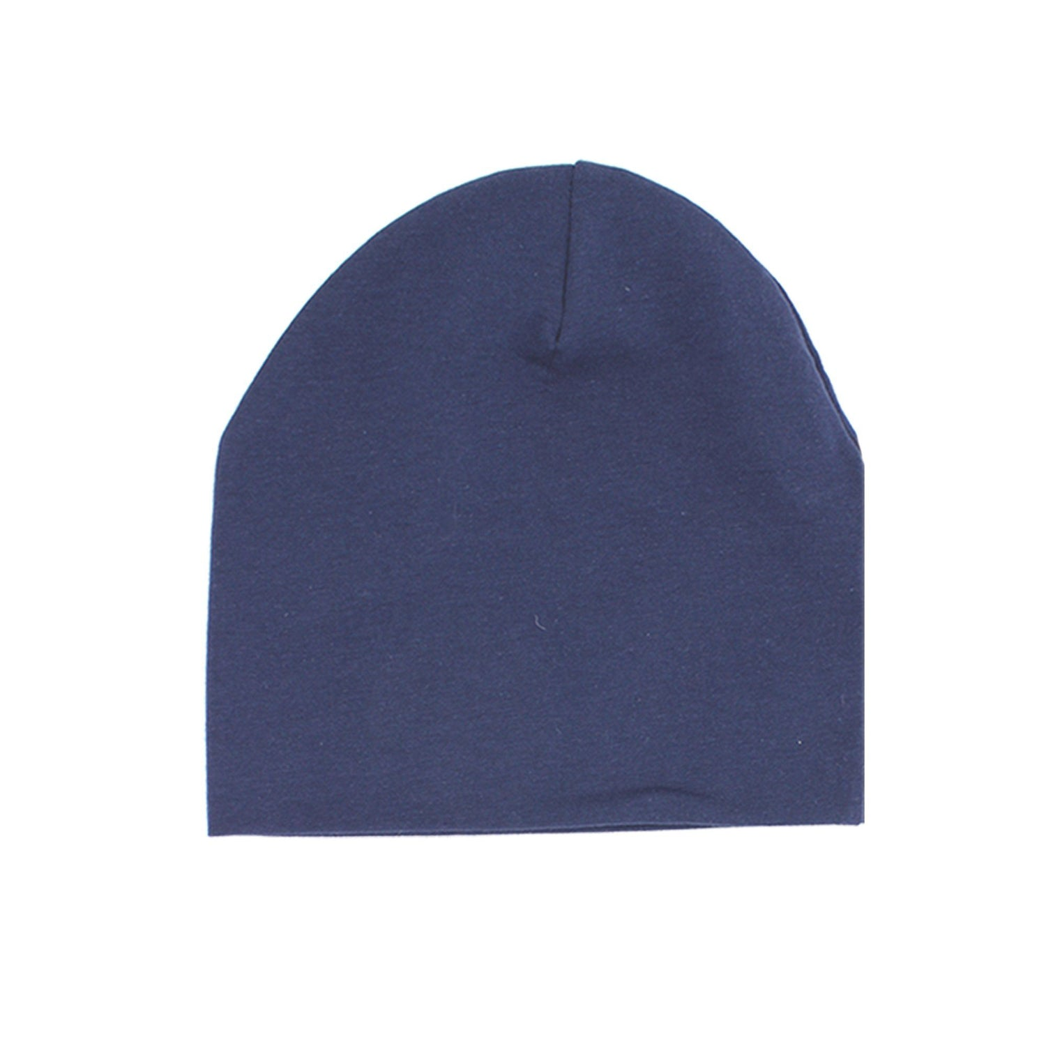 Cotton Henley Beanie Maniere Accessories Navy 3 Month