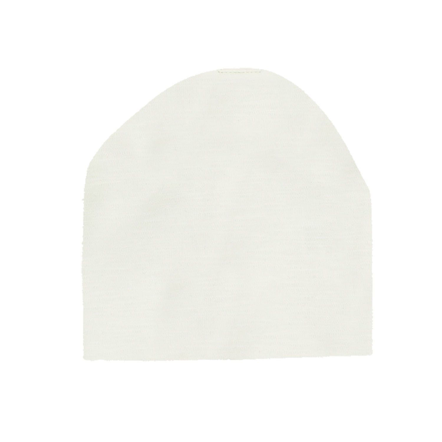 Cotton Henley Beanie Maniere Accessories White 3 Month