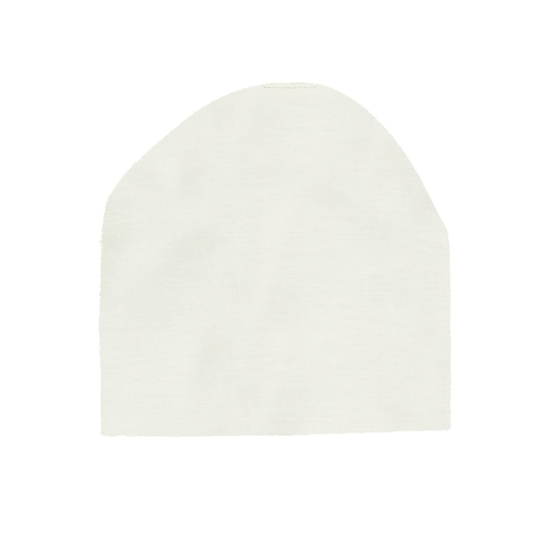 Cotton Henley Beanie ( W/ Matching Pom)