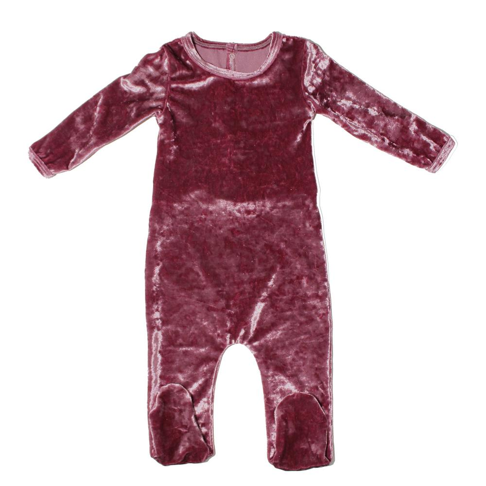 Crushed Velvet Footie