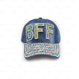 Load image into Gallery viewer, Denim-Baseball-Cap,-Large Baseball Cap Manière BFF