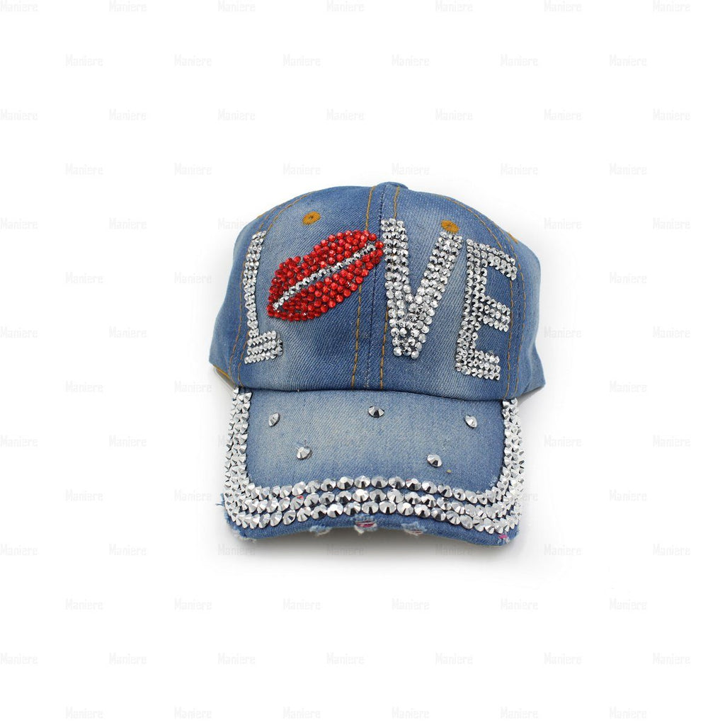 Denim-Baseball-Cap,-Large