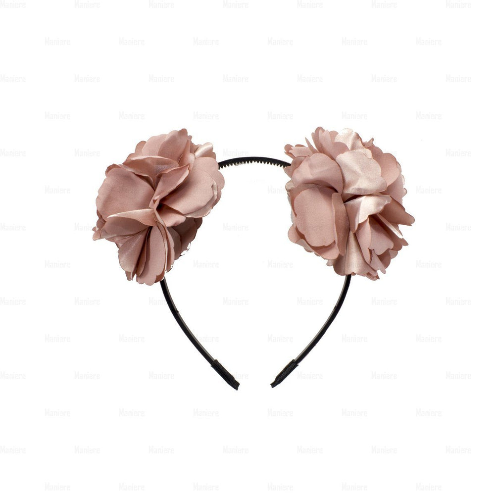 Double-Flower-Wreath Headband Manière Blush